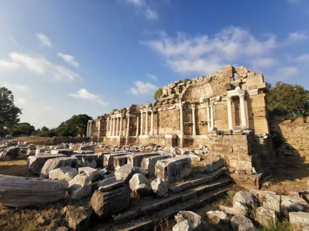 State Agora ruins, Side, Turkey. stock photo