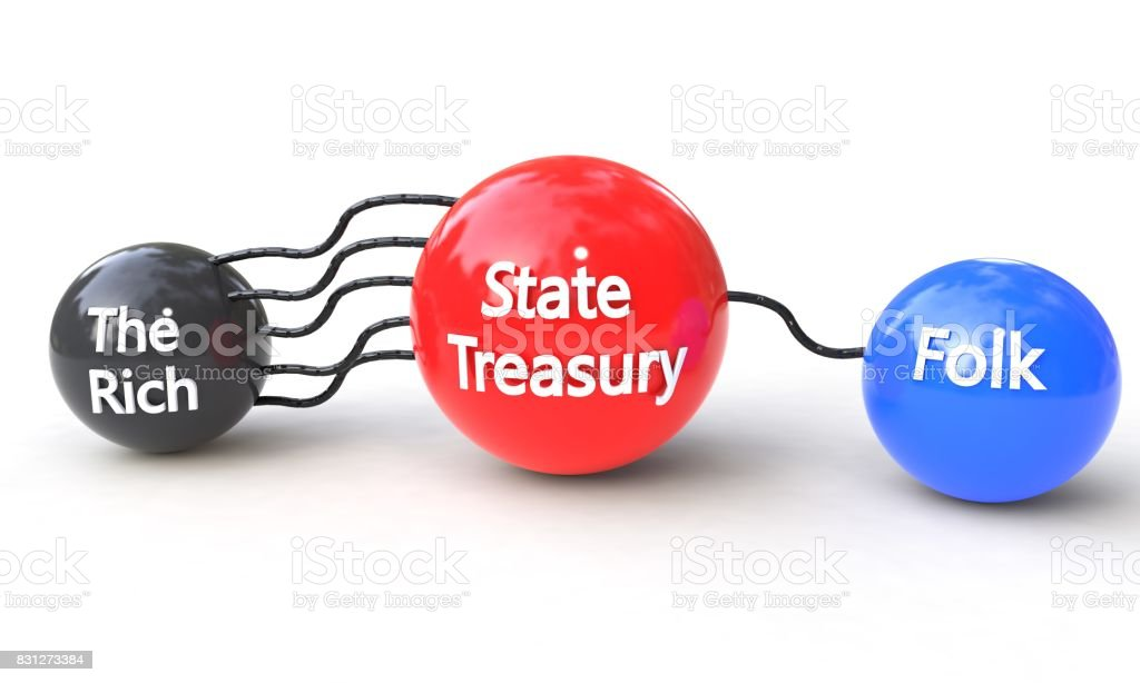 State and folk concept, 3d stock photo