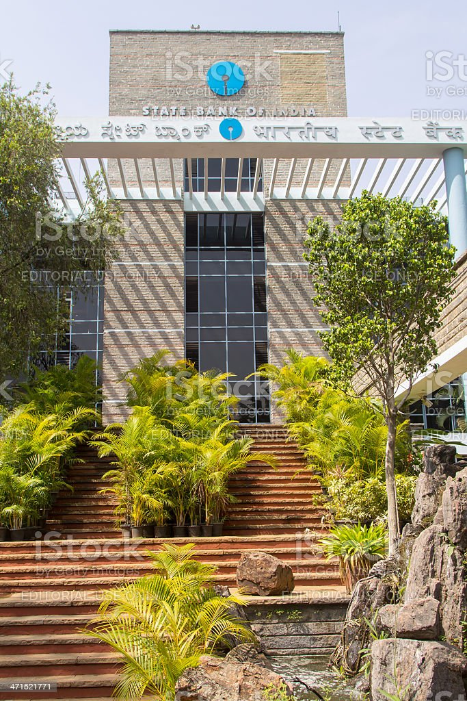 State Bank of India building in Bangalore stock photo