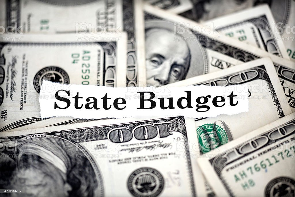 state budget stock photo