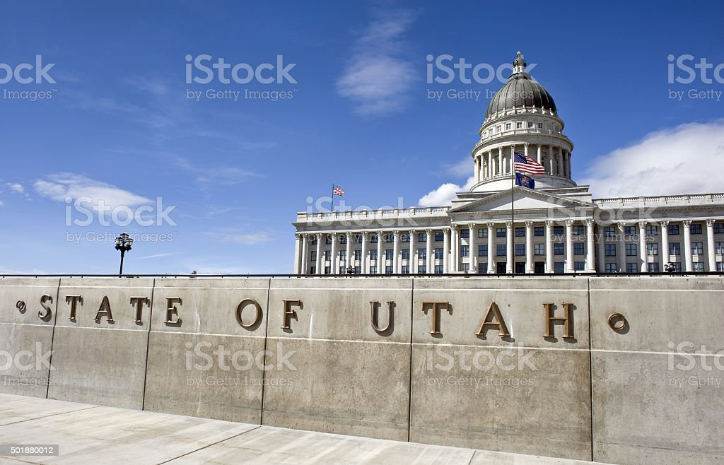 State Capital Building of Utah. stock photo