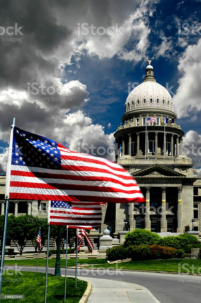 State Capital Building stock photo