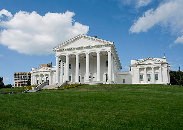 State Capital of Virginia. Virgina State Capital building in Richmond, Virginia. capital cities stock pictures, royalty-free photos & images