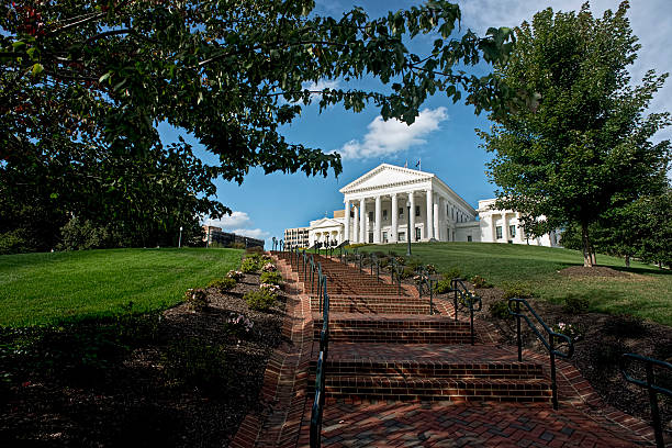 State Capital of Virginia. Virginia State Capital building in Richmond, Virginia. capital cities stock pictures, royalty-free photos & images
