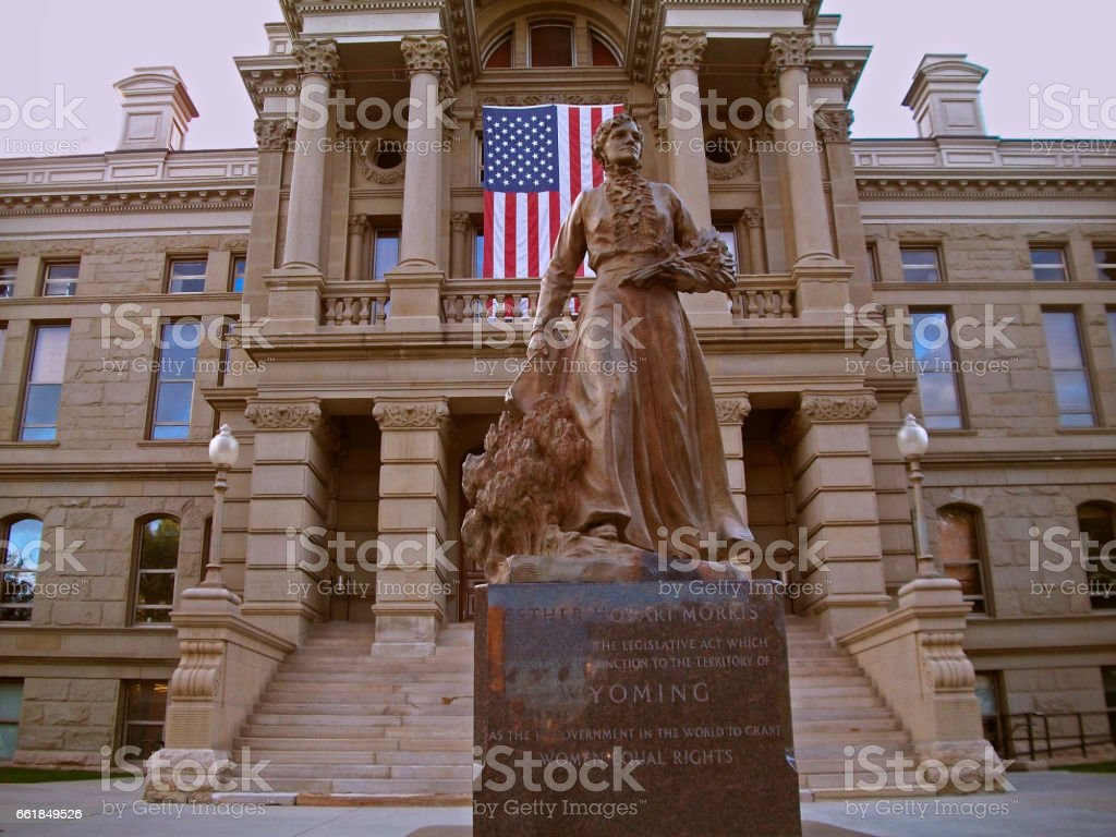 State Capitol Building in Cheyenne, Wyoming stock photo