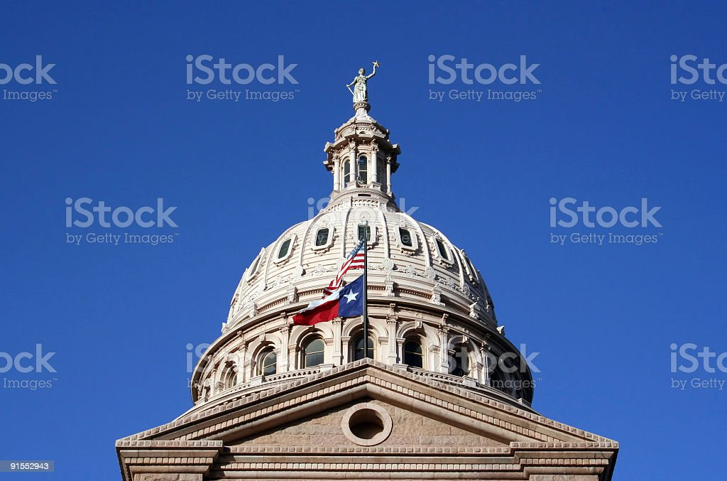 State Capitol Building in downtown Austin, Texas stock photo