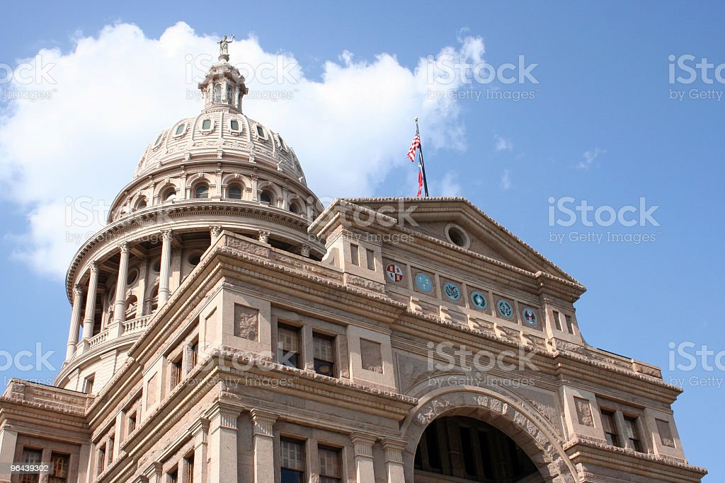 State Capitol Building no centro de Austin, Texas - Foto de stock de Antigo royalty-free