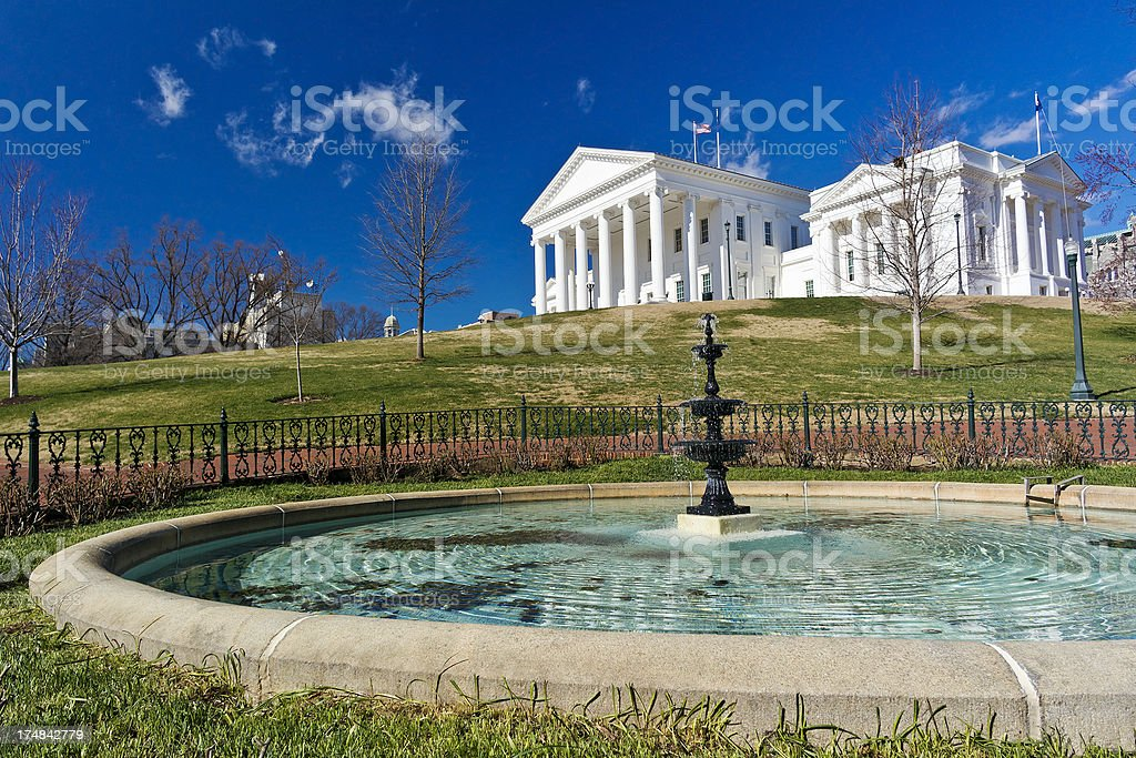 State Capitol Building In Richmond, Virginia stock photo