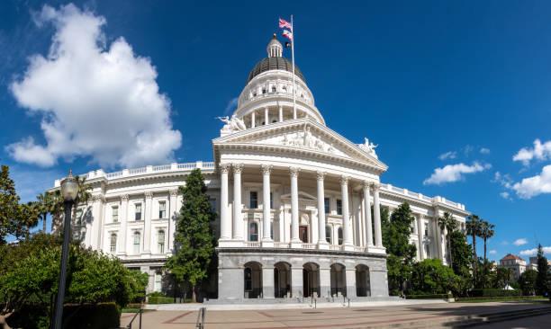 State Capitol building in Sacramento, California stock photo