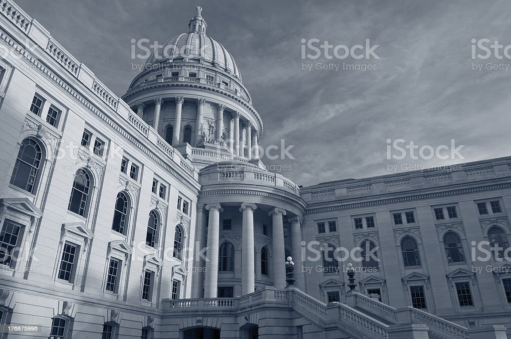 State capitol building, Madison. stock photo