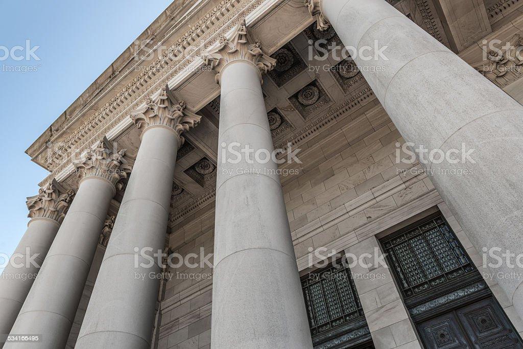 State Capitol Building - Olympia, Washington  USA Columns at the Washington State Capitol Building, Washington, USA  - July 2014 2015 Stock Photo