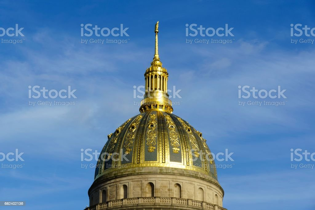 State Capitol Dome, Charleston, West Virginia royalty-free stock photo