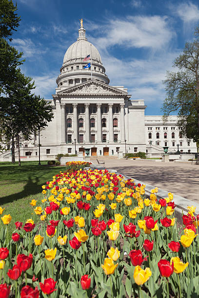 State Capitol Dome of Madison Wisconsin in Spring Vt