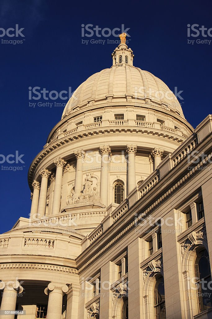 State Capitol dome stock photo