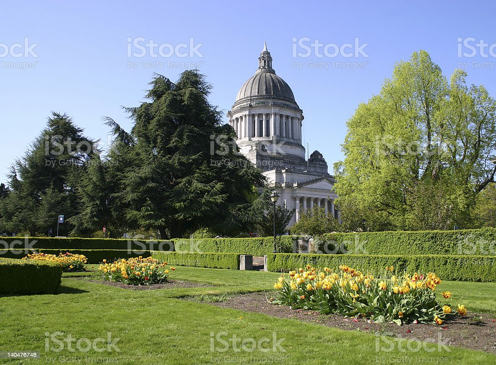 State capitol, Olympia Washington stock photo