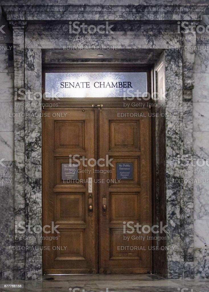 State Capitol Senate Chamber stock photo