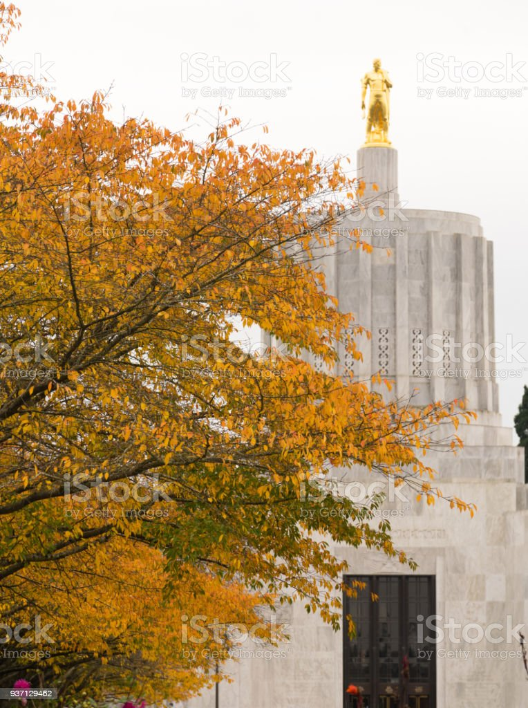 State Captial Salem Oregon Government Capital Building Downtown stock photo