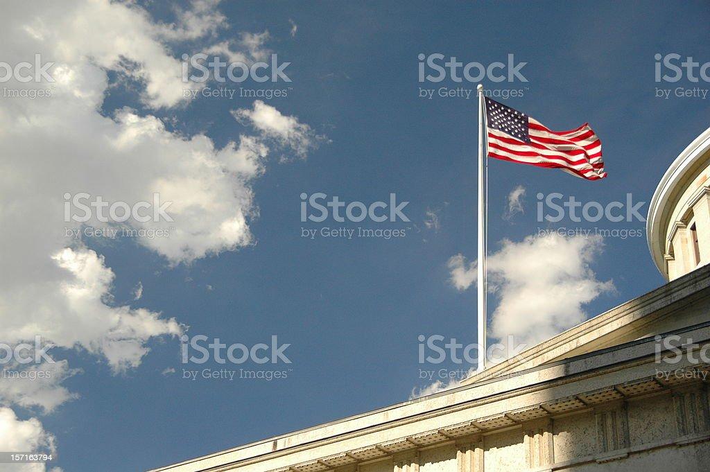 State flag @ Columbus (Ohio, USA) royalty-free stock photo