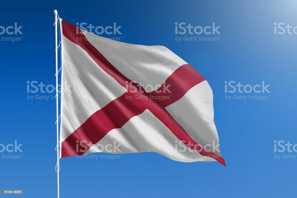 US state flag of Alabama stock photo