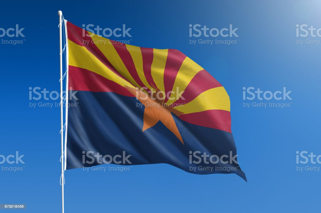 US state flag of Arizona - foto de acervo