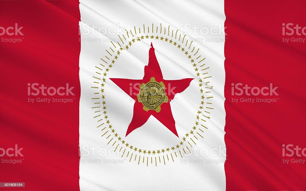 State Flag of Birmingham stock photo