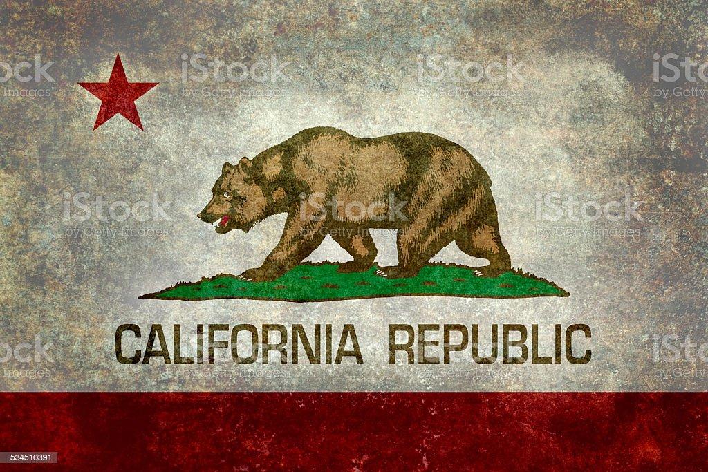 State flag of California Republic, Vintage version stock photo