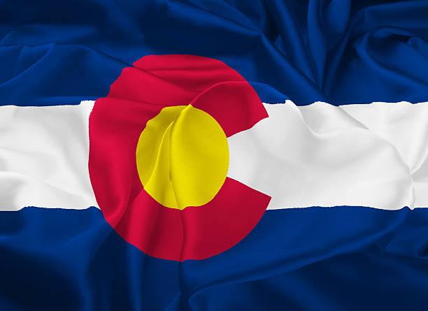 State Flag of Colorado stock photo