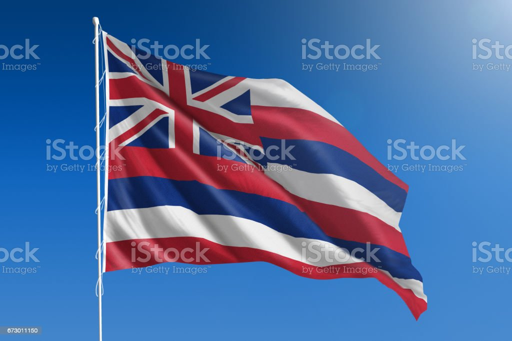 Bandeira do estado americano de Havaí - foto de acervo