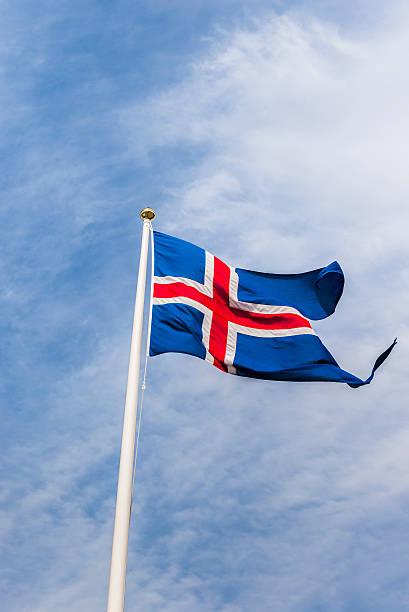 Bandeira do estado da Islândia - foto de acervo