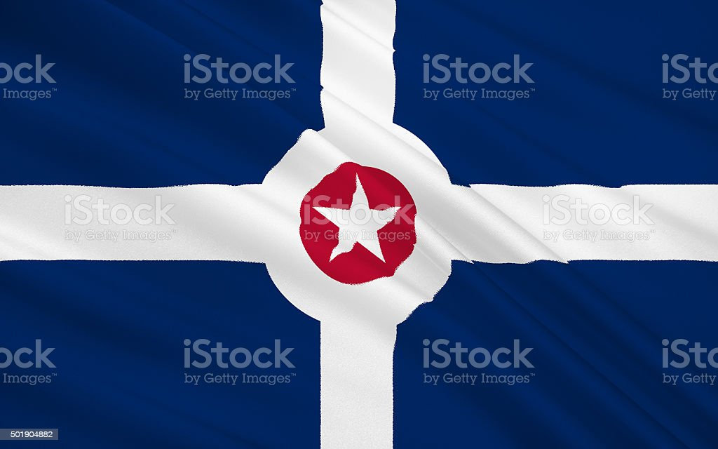 State Flag of Indianapolis stock photo