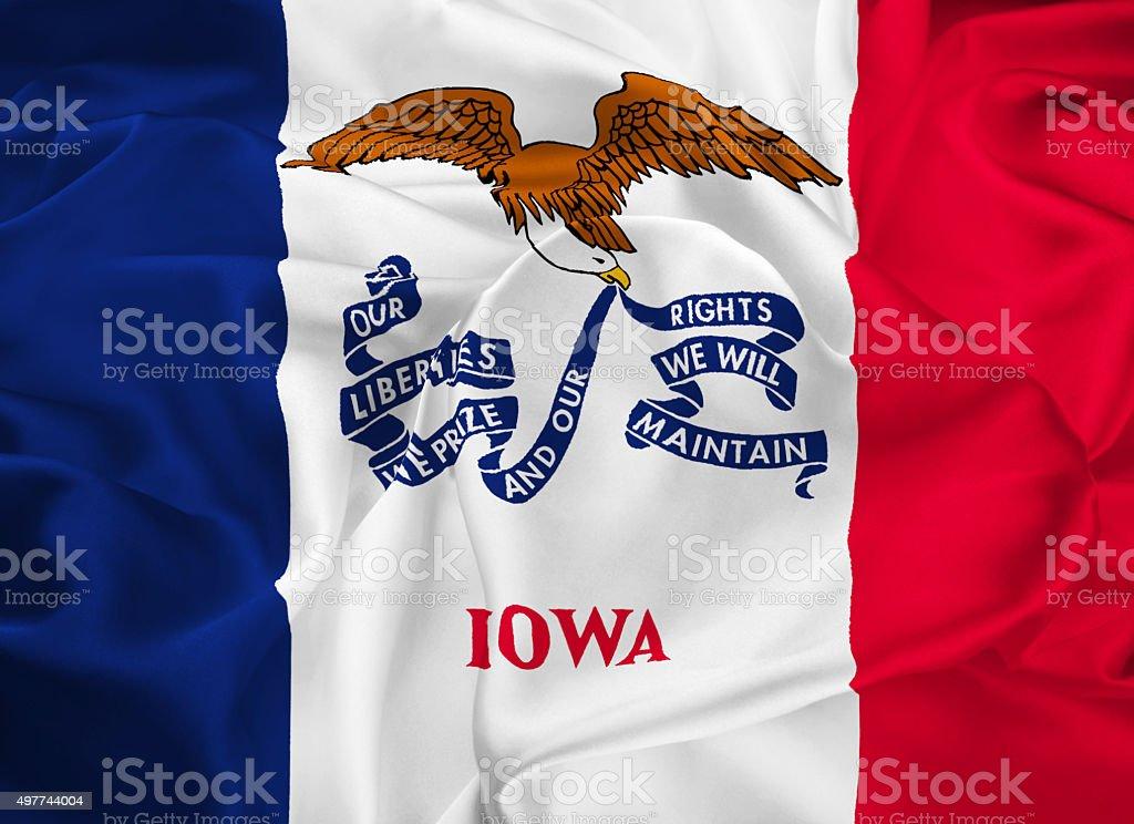 State Flag of Iowa stock photo