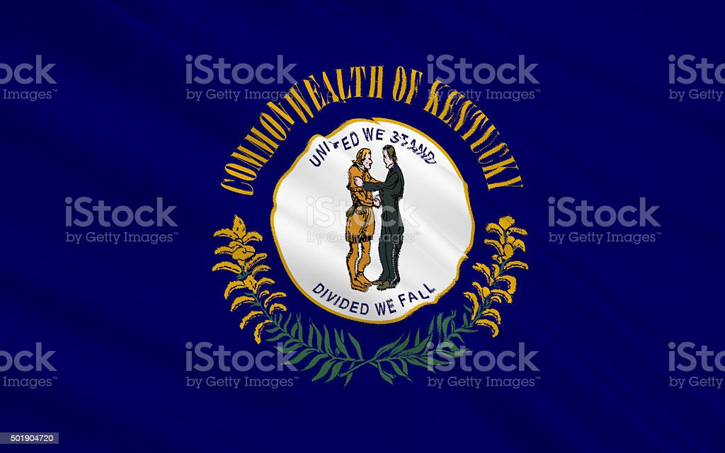 State Flag of Kentucky stock photo