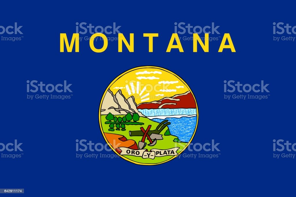 Bandeira do estado americano de Montana - foto de acervo