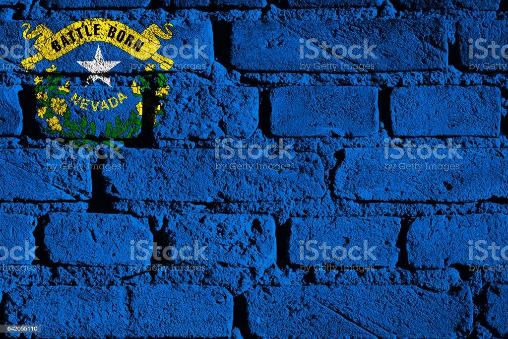 Bandeira do estado americano de Nevada - foto de acervo