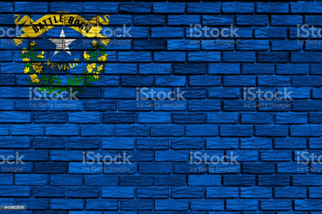 US state flag of Nevada stock photo