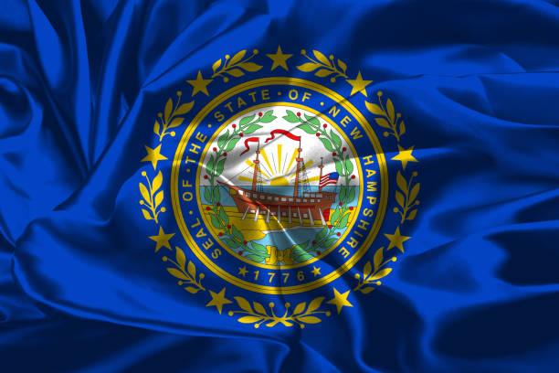 Bandeira do estado americano de Nova Hampshire - foto de acervo