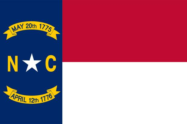 US state flag of North Carolina One of The U.S. s 50 country states north carolina us state stock pictures, royalty-free photos & images