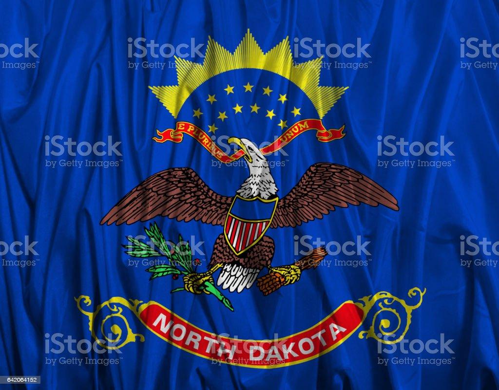 US state flag of North Dakota stock photo