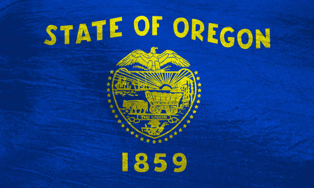 US state flag of Oregon One of The U.S. s 50 country states oregon us state stock pictures, royalty-free photos & images