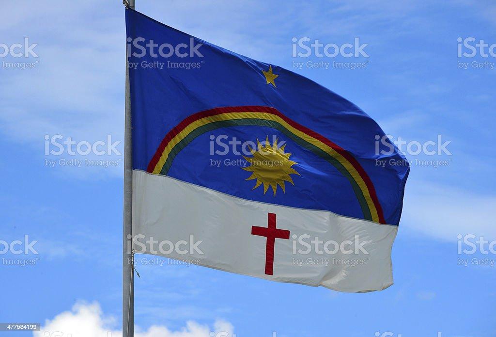Bandeira do Estado de Pernambuco-Brasil - foto de acervo
