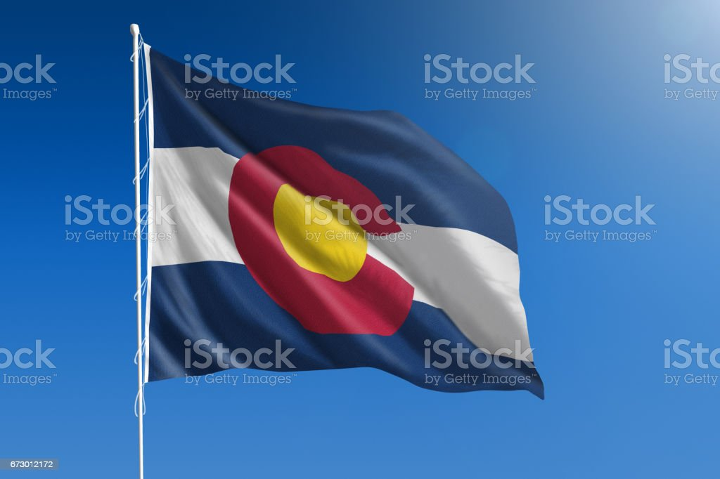 US state flag of stock photo