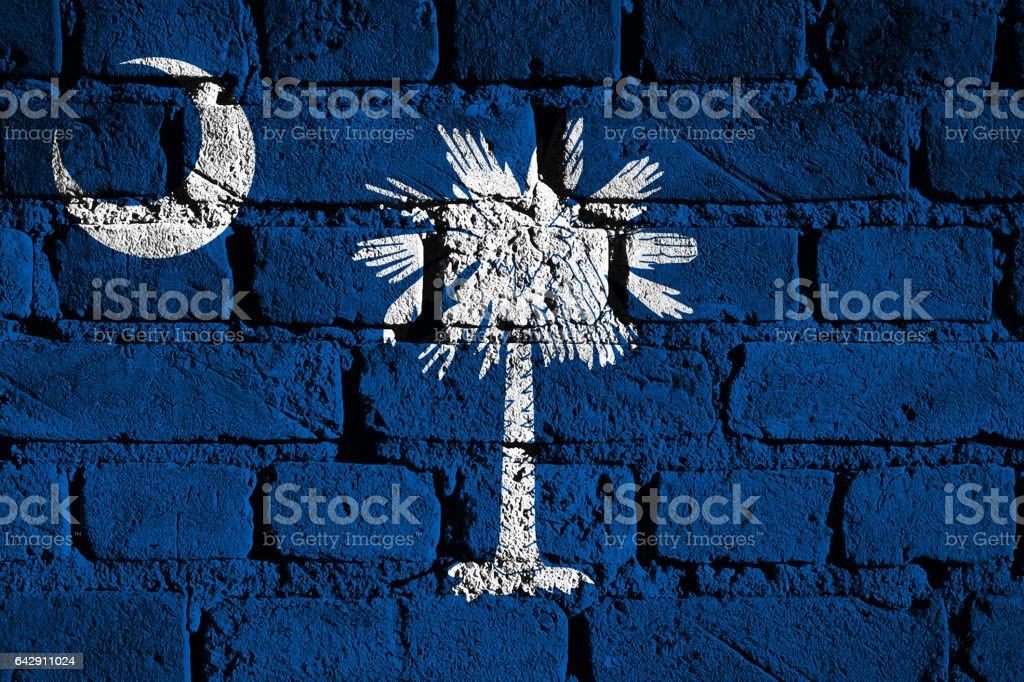 US state flag of South Carolina stock photo