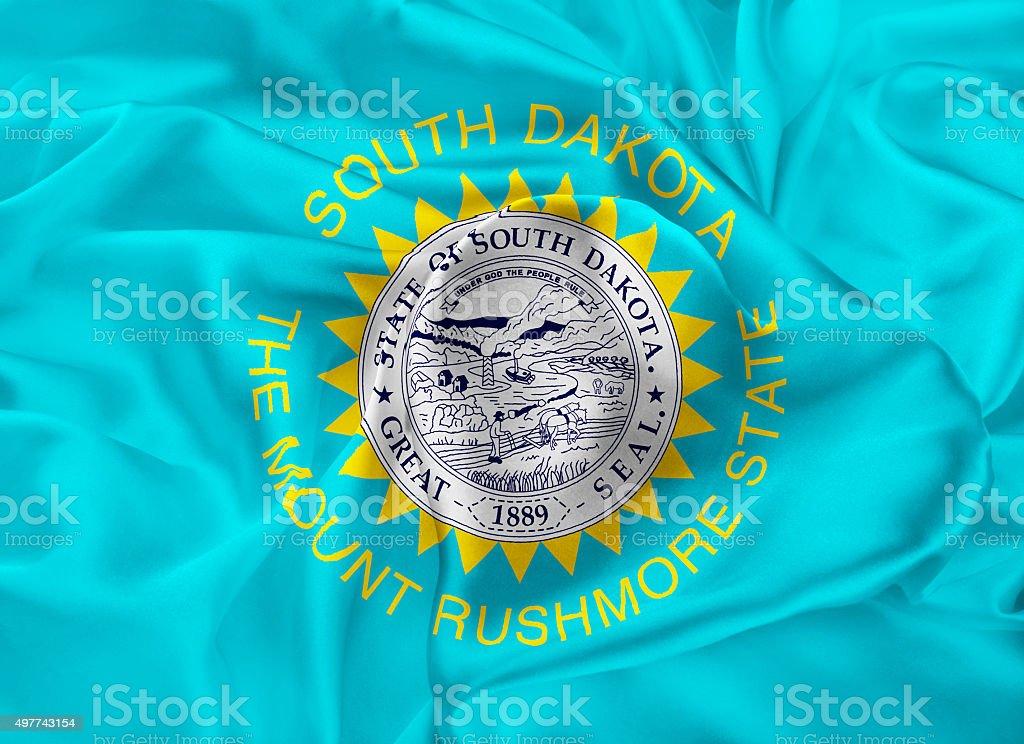 State Flag of South Dakota stock photo