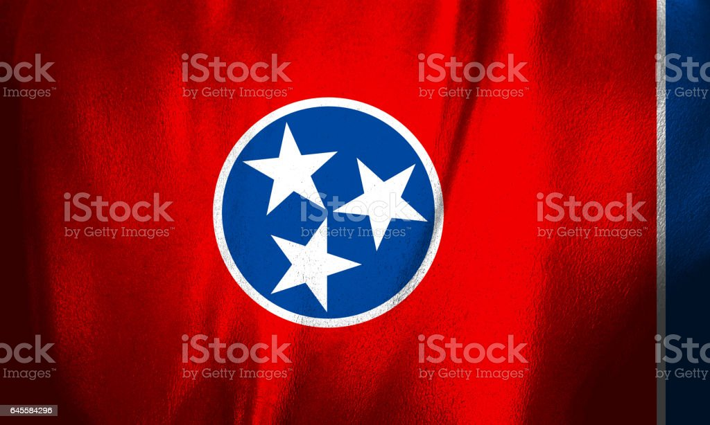 Bandeira do estado americano de Tennessee - foto de acervo