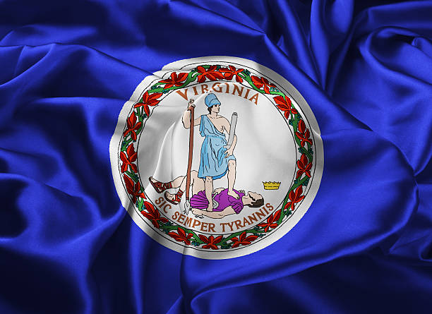 State Flag of Virginia stock photo