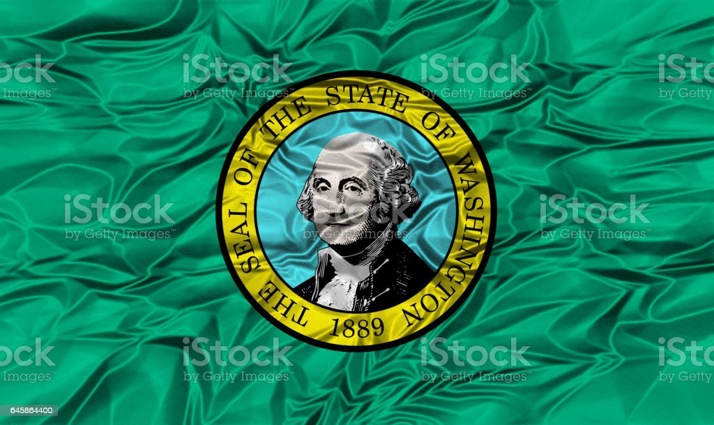US state flag of Washington stock photo