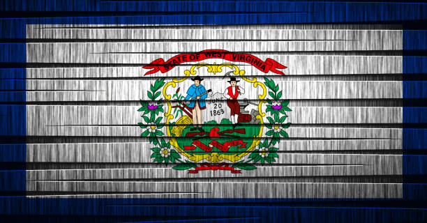 US state flag of West Virginia One of The U.S. s 50 country states west virginia us state stock pictures, royalty-free photos & images