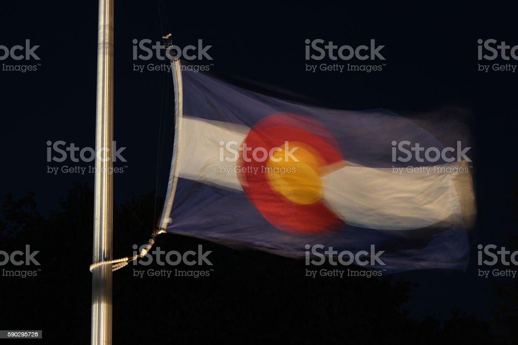 CO state flag Стоковые фото Стоковая фотография