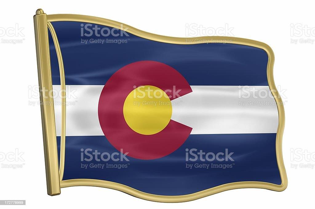US State Flag Pin - Colorado stock photo
