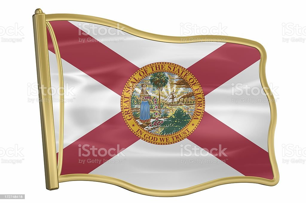 US State Flag Pin - Florida royalty-free stock photo